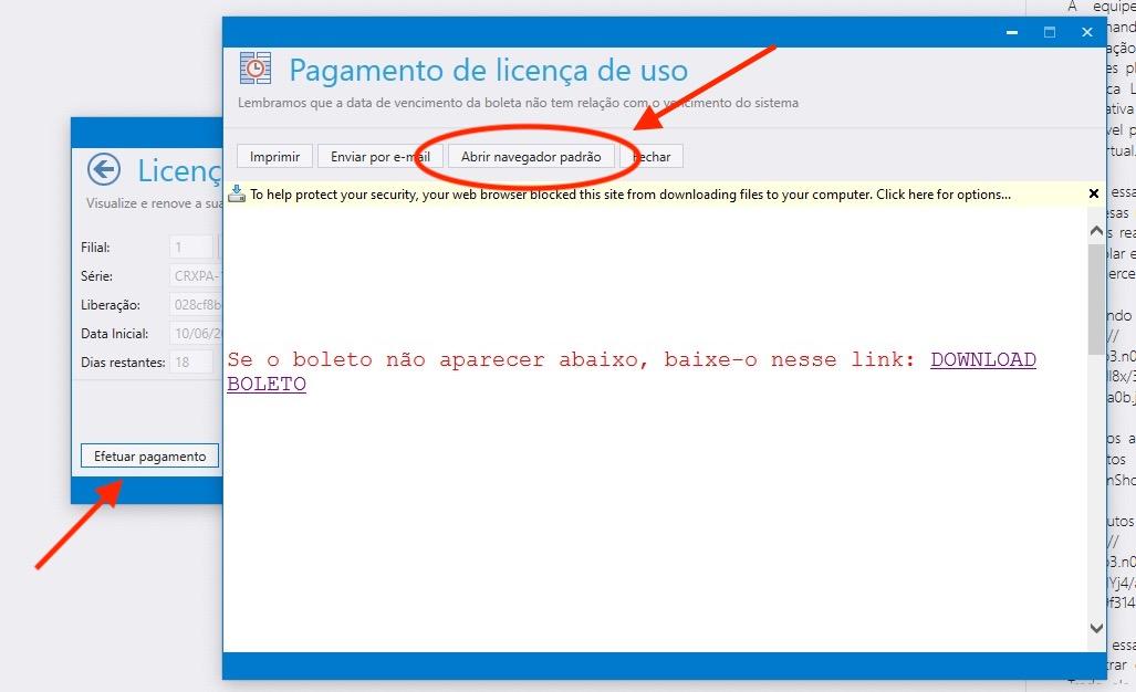 Abrir navegador padrão